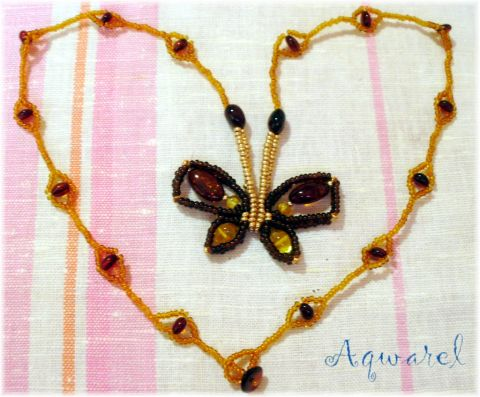 crafty jewelry: beaded butterfly