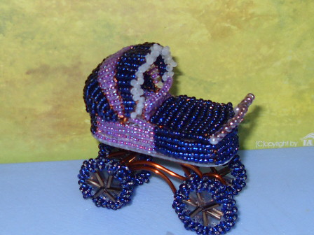 unique craft projects: beaded cradle tutorial